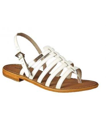 Les Tropéziennes sandales Hérisson Blanc