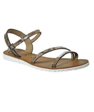 Les Tropéziennes sandales Blush serpent beige