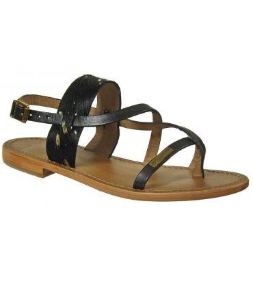 Les Tropéziennes sandale Baule noir
