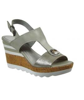 Marco Tozzi sandales compensée beige