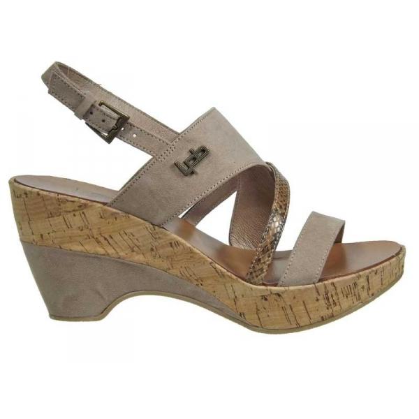 ventes sandales compens es lpb shoes juliette serpent taupe prix 49 90. Black Bedroom Furniture Sets. Home Design Ideas