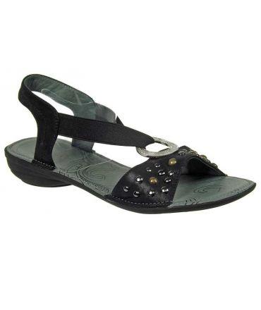 Fugitive sandale nu pieds Aboso noir