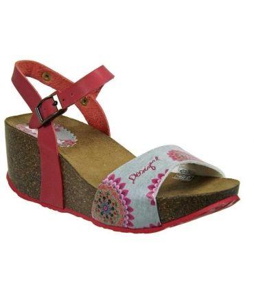 Désigual sandale compensée Laila rose