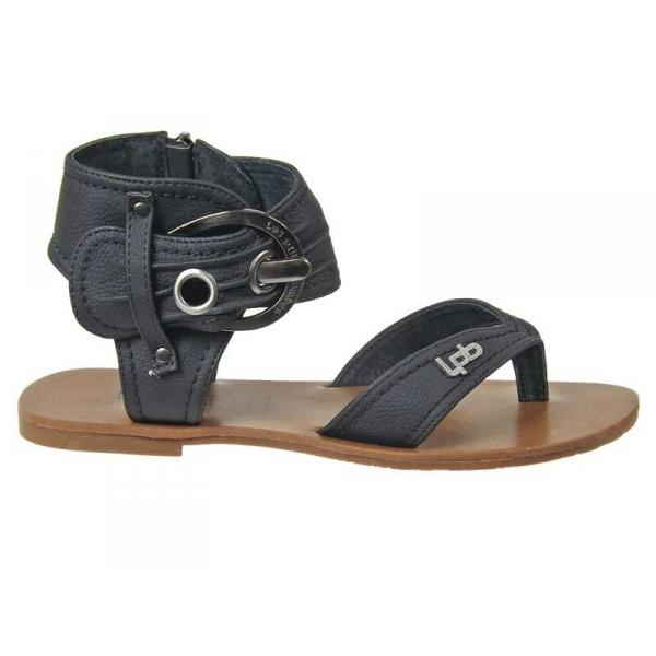 vente sandale lpb shoes thalie noire boucle cheville les petites bombes. Black Bedroom Furniture Sets. Home Design Ideas