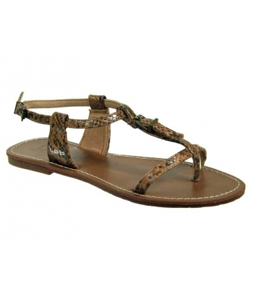 LPB Shoes Zhoé serpent choco