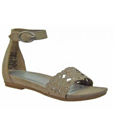 Marco Tozzi sandale strass taupe