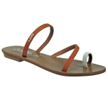 LPB Shoes tongs Maeline brique