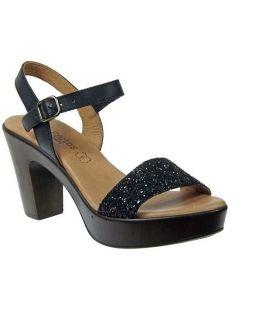 Sandale glitter noir