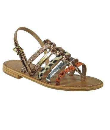 Les tropéziennes nu pieds Beguin bronze
