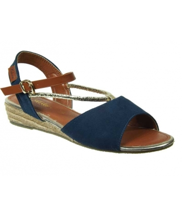 Compensée cordes Kelara shoes bleu