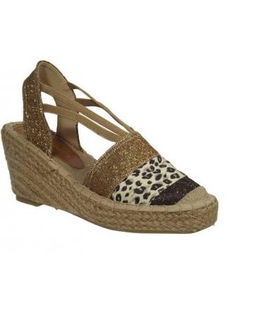 Kelara Shoes sandales compensées cordes café