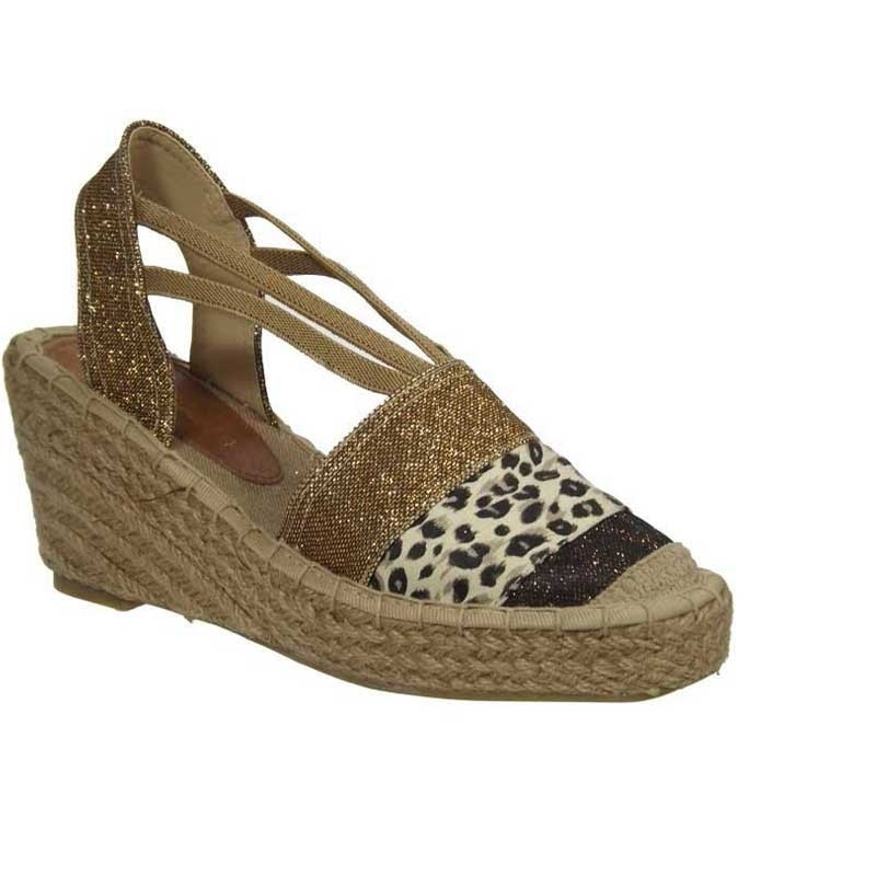 0e649779fae Kelara Shoes sandales compensées cordes café. Loading zoom