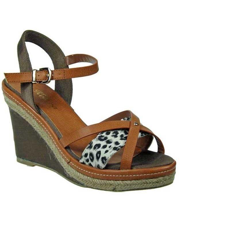 2a26713bd4d Espadrille compensée kelara leopard. Loading zoom