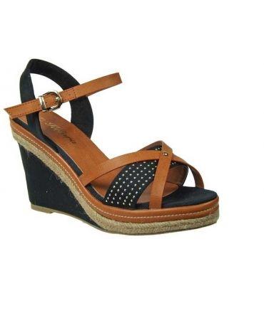 ee35711abb3882 Sandale textile et cordes Kelara, décorée de clous, prix 39,90 €