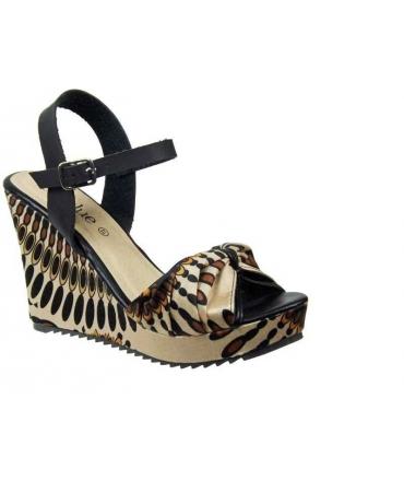 Lolablue sandale compensée noire