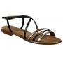 Les Tropéziennes sandale Balise noir & doré