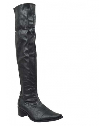 Bottes fugitive bana stretch metal noir