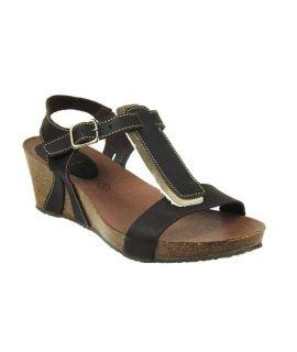 Inter Bios 5620 sandale cuir bride cheville, semelle liège