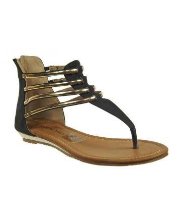 Nouveauté sandale Elue par Nous Tuacor noir