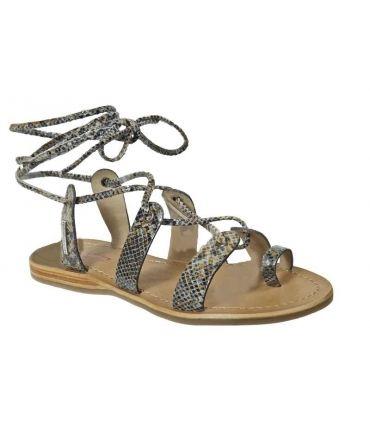 Sandale à lacets Les Tropéziennes Bird marron lézard