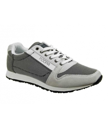 33428ec5084d4 Vente chaussure KDOPA Franz gris & blanc, basket basse mode, prix 65 €