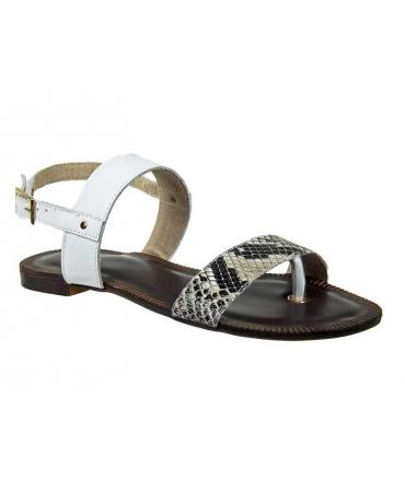 Sandale entre doigt Kdopa Wendy blanc zèbre