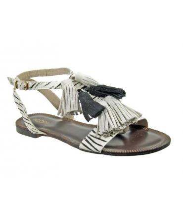 Kdopa sandale plate Melissa blanc zèbre