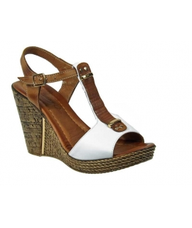 Chaussures compensés Métamorf'ose Tabure blanc