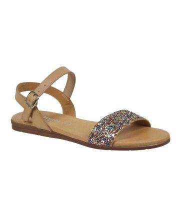 Eva Frutos sandale plate-5190, glitter beige