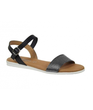 Eva Frutos sandale plate-5190, noir