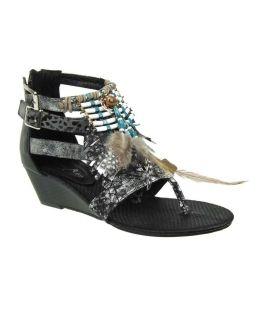 Sandale Metamorf'ose style tribal Tadret noir
