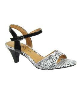 Lpb shoes sandale Sixtine serpent blanc, Les P'tites Bombes