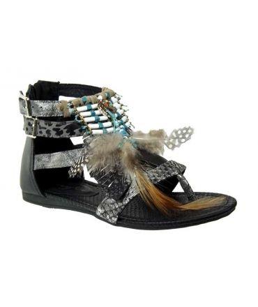 Sandales femmes Métamorf Ose nu pieds Taduvet gris