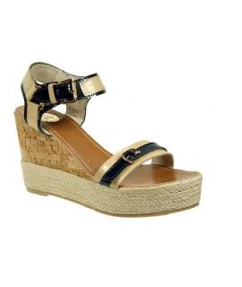 Sandale compensée Kdopa Tonia beige
