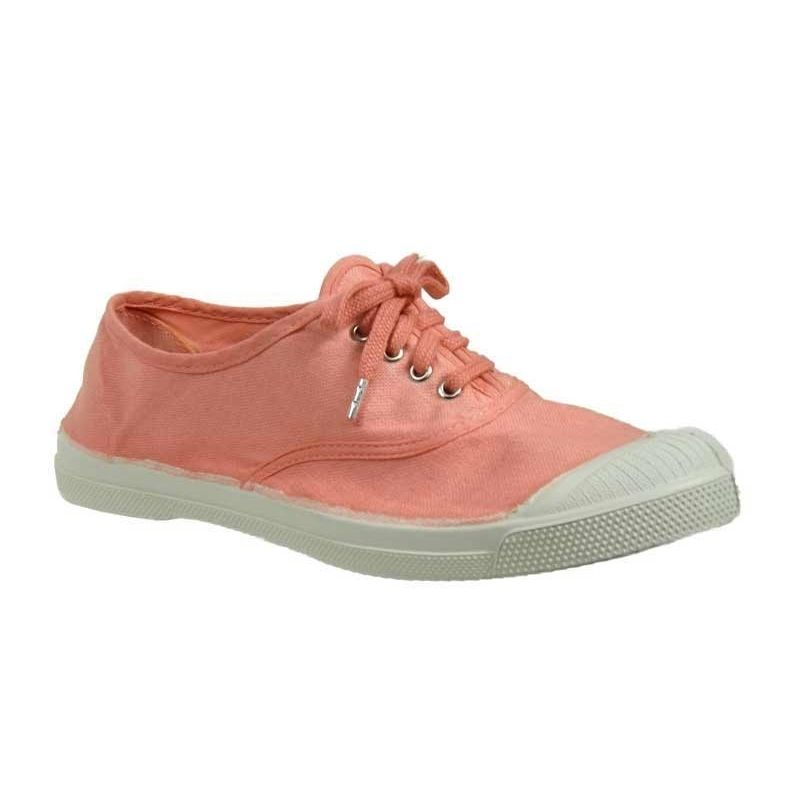 Chaussures Baskets Bensimon femme Tennis Lacets taille Rose Textile