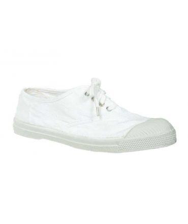 Bensimon Tennis à lacets blanc