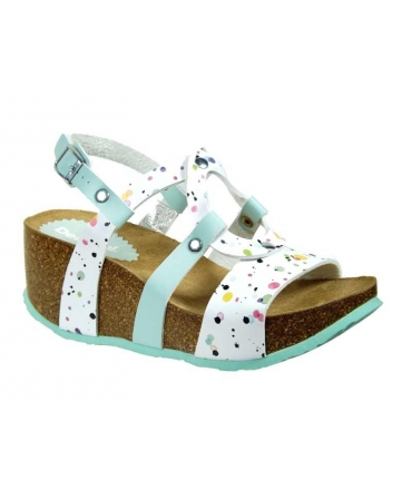 Chaussures Desigual, sandale compensée Anissa Splater
