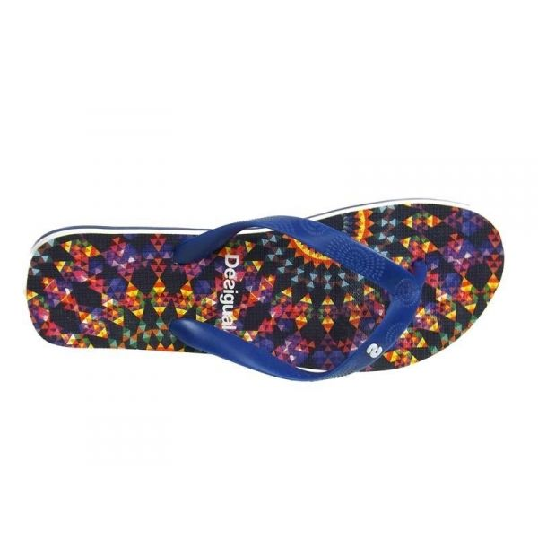 ventes chaussures tongs desigual flip flop 5 bleu nouveaut 2016. Black Bedroom Furniture Sets. Home Design Ideas