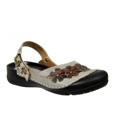 Sandale-sabot Laura Vita Vota gris