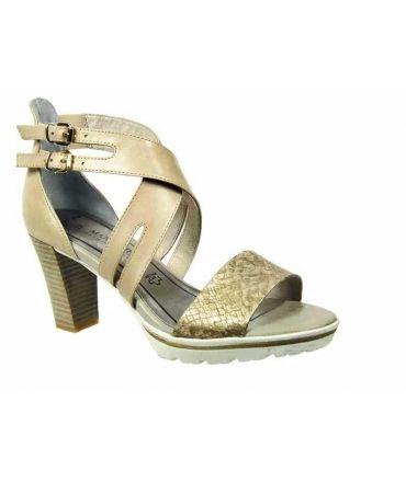 Marco Tozzi sandale à talon Dune beige