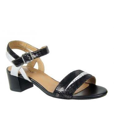 Sandales talon Fugitive Lerin Zèbre noir, nouveauté