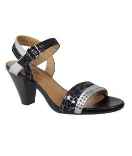 Sandale talon Fugitive Eaton cuir gris noir