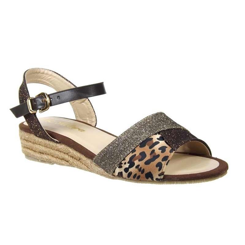de627ed9476 Kelara sandale petit talon cordes confortable