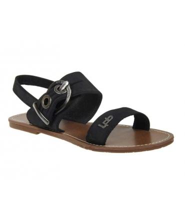 Les P'tites Bombes nu pieds Pervenche noir, nouvelle collection Lpb Shoes