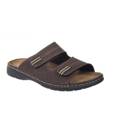 Sandale Arizona marron / Patrizia mules velcro homme