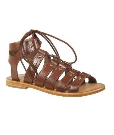 Les Tropéziennes sandale spartiate Marilyn tan/ M Belarbi