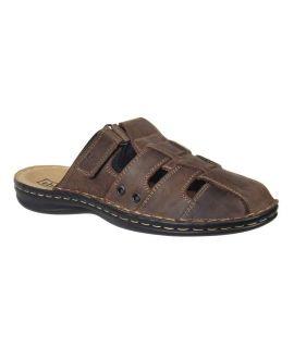 Tbs mule confortable pour homme, Bassoa cuir marron