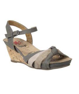Sandale compensée Relife Sister gris, talon liège