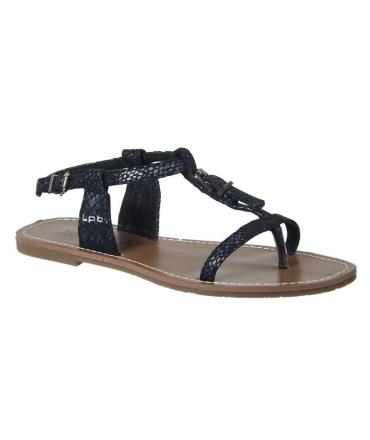 Sandales plates LPB Zhoé S noir, Les P'tites Bombes