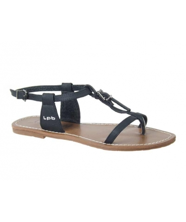 Les P'tites Bombes sandale plate Zhoé noir-LPB Shoes